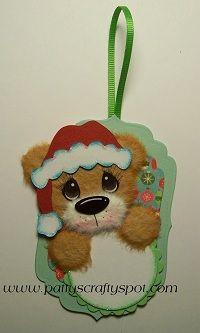 Mini Christmas Tag Santa Bear