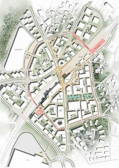 Vestby urban transformation plan by C.F. Møller Architects and JaJa Architects