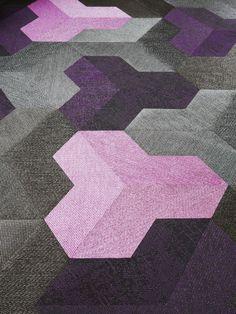 "Floor Coverings ""Wing"" by Bolon. Carpet Flooring, Carpet Tiles, Rugs On Carpet, Vinyl Flooring, Floor Patterns, Wall Patterns, Textures Patterns, Carpet Design, Floor Design"