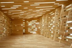 constructed by discarded wood, 'space lab', by kohki hiranuma architect & associates addresses the diminishing resources of the environment. Wooden Architecture, Space Architecture, Architecture Details, Temporary Architecture, Beautiful Architecture, Space Lab, Timber Structure, Built In Furniture, Architectural Section