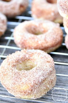 Baked Buttermilk Doughnuts with Cinnamon and Sugar - Heathers French Press