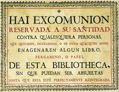 Los préstamos bibliotecarios más largos de la Historia. Foto: Cédula de excomunión de la Universidad de Salamanca