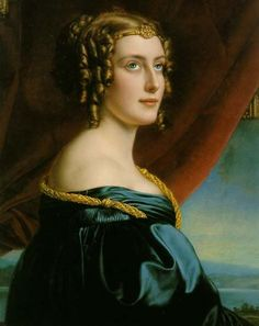 Lady Jane Elizabeth Digby, daughter of Admiral Henry Digby of Trafalgar. Painted in 1831 as Lady Jane Ellenborough by Joseph Karl Stieler for the Schönheitengalerie (Gallery of Beauties at Nymphenburg Palace) of King Ludwig I of Bavaria. Women In History, Art History, Gabrielle D'estrées, Agnes Sorel, Neo Rauch, Ludwig Meidner, Lady Jane, Foto Art, Hair Images