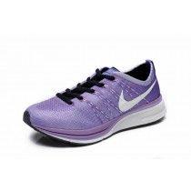 1a5e4fcb5f32 Chaussure Pour Femme Nike Flyknit Trainer+ Pourpre Blanc Noir - p9Nc2