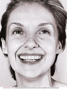 Donna Mitchell shot by Richard Burbridge for allure magazine April 1998 | Art Director David Sebbah [ellastica scan]