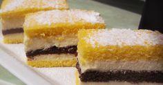 "Prajitura ""Felie de lamaie"" Cream Cake, Ice Cream, Romanian Desserts, Cake Recipes, Dessert Recipes, Just Desserts, Nutella, Baked Goods, Sweet Treats"
