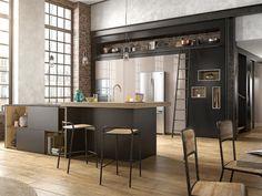 Après avoir régné en maître dans nos salons, le style industriel envahit  nos cuisines. 7f11fef60f0b
