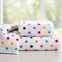 Confetti Dot Bath Towels #pbteen