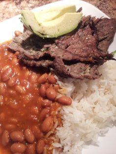 La bandera...LOL Dominican food (steak fajita recipe how to make)