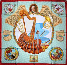 """Hommage a Mozart (from <a href=""""http://piwigo.hermesscarf.com/picture?/1973/category/69-julia_abadie"""">HSCI Hermes Scarf Photo Catalogue</a>)"""