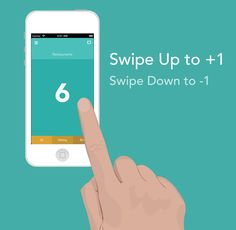 Swiping Counter by Didats Triadi, via Behance Counter App, Simple App, Mobile Ui Design, User Interface, Mobile App, Cool Designs, Behance, Nails, Finger Nails