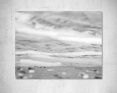 Sea foam Photography Black and White Photography Beach photography Coastal photography Grey decor Seashore photography…