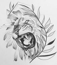 <img> Lion Sketch By Leandro Big Tattoos. Tribal Tattoos, Leo Tattoos, Irezumi Tattoos, Body Art Tattoos, Hand Tattoos, Small Tattoos, Unique Animal Tattoos, Animal Tattoos For Women, Polynesian Armband Tattoo