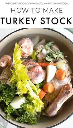 1 reviews · 4 hours · Gluten free Paleo · Serves 12 · Learn How to Make Turkey Stock using the leftover bones, carcass, neck, and giblets from your Thanksgiving turkey. Use it to make nourishing soups and stews or freeze it for later. Best Healthy Dinner Recipes, Whole Food Recipes, Free Recipes, Turkey Soup From Carcass, How To Make Turkey, Turkey Stock, My Favorite Food, Favorite Holiday, Cooking Turkey