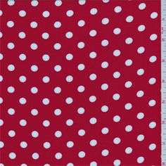 Bright Red/White Dot Challis - 36974 - | Discount By The Yard | Fashion Fabrics