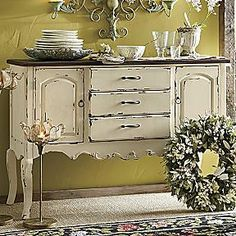 french country console #shabbychichomesdecor