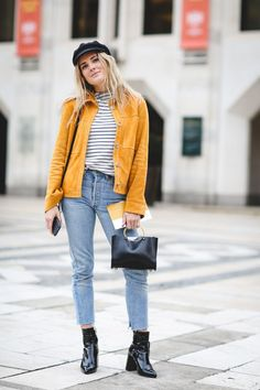 30 Brilliant Street Style Moments From 2016 #refinery29  http://www.refinery29.com/2016/12/133987/best-street-style-2016#slide-25  Looking good, Lucy Williams. We love the turmeric hue and the nod to the patent leather trend....