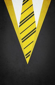 Minimal Hufflepuff Robe Poster  Harry by designbynickmorrison,