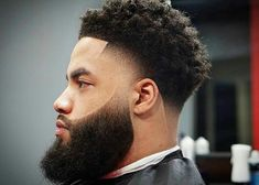 Best Fade Haircuts For Men Styles) Best Fade Haircuts, Black Men Haircuts, Short Curly Haircuts, Black Men Hairstyles, Curly Hair Cuts, Curly Hair Styles, Natural Hair Styles, Crazy Hairstyles, Fade Haircut With Beard