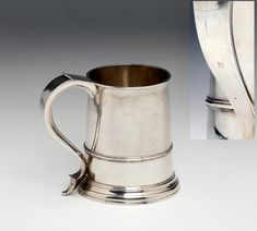 Bonhams Fine Art Auctioneers & Valuers: auctioneers of art, pictures, collectables and motor cars Truro Cornwall, Makers Mark, Auction, Clock, Handle, English, Mugs, Silver, Watch