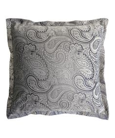 Love this Gray Paisley Velvet Square Throw Pillow by Lush Décor on #zulily! #zulilyfinds