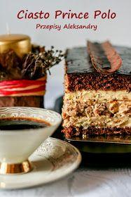 Przepisy Aleksandry: CIASTO PRINCE POLO Polish Desserts, Polish Recipes, Sweet Recipes, Cake Recipes, Dessert Recipes, Bakery Cakes, Food Cakes, Cake Bars, Dessert Bars