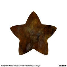 Rusty Abstract Fractal Star Sticker