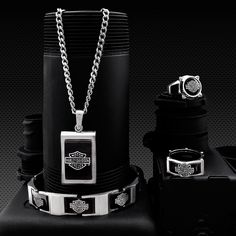 """Harley-Davidson Black Steel collection - part of the full stainless steel collection, """"Steel Legacy"""""""