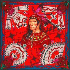 Hermes Apache Silk Scarf