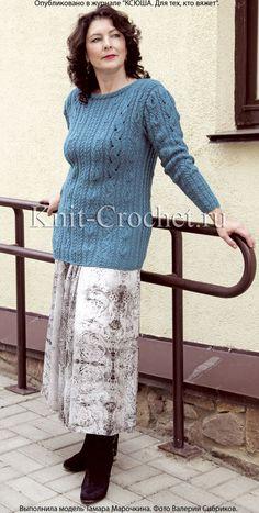 Пуловер размера 50-52 на спицах.