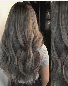 Hair Color Streaks, Hair Dye Colors, Ombre Hair Color, Cool Hair Color, Brown Hair Colors, Hair Highlights, Ashy Hair, Brown Hair Balayage, Brown Blonde Hair