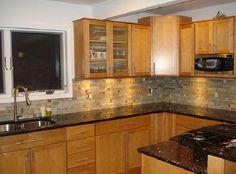 granite colors for oak cbinets | Granite Countertop Colors for Oak Cabinets to Choose | Minimalist ...
