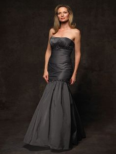On Sale!!  Marked down from $478 to $380.    Spectacular mother of the bride dress Jean De Lys 29203.This matte taffeta/lace displays a strapless neckline with fitted bodice and empire waistline. A fit and flare skirt completes the look of this mother of the bride dress. Wear this amazing dress and you will be the envy of the evening.