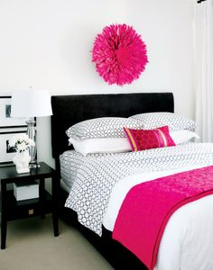 Black and white with touches of pink.. Perfect.