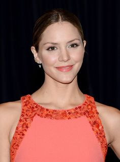 Katharine McPhee Ponytail - Katharine McPhee opted for a sleek center-parted…