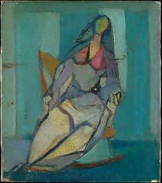 Woman in a Rocker - Franz Kline