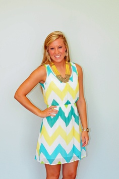 """BEST SELLER!  Key West and Destin Beach have been two of our best selling patterns this spring!  We love the style of this dress, and we know you will, too!  Our model is 5'5"""" and wearing a small."""
