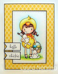 Whimsie Doodles - Easter Chick digital stamp, MFTWSC170