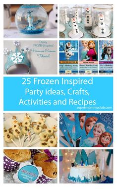 We've rounded up 25 great Frozen party ideas, crafts, activities and recipes, perfect for a birthday party, or just keeping the kids entertained on a rainy day this summer!