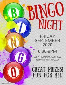 My Designs Postermywall Bingo Night Bingo Flyer Template