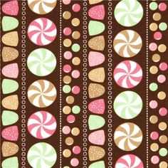 brown fabric with sweets by Robert Kaufman