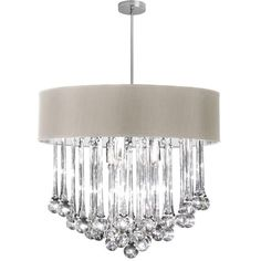 Features:  -Tamara collection.  -Number of lights: 8.  -Finish: Polished chrome.  -Shade material: Glass.  -Electroplated.  -Comes with crystal.  Chandelier Type: -Drum chandelier.  Finish: -Polished