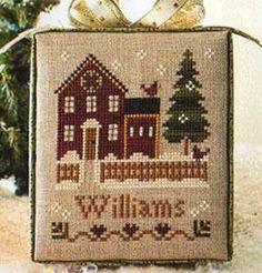 Cross Stitch Sampler Pattern My House by FiddlestixDesign on Etsy, $6.00
