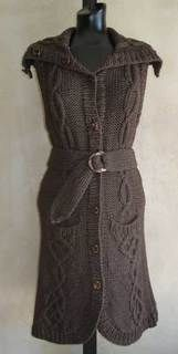 #71 Intricately Cabled Long Vest PDF Knitting Pattern #knitting #SweaterBabe.com