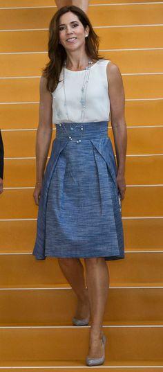 Princess Mary in Bogelund-Jensen skirt