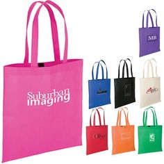 Show Support and Handout these Pink Totes!  Promotional Sovrano Totes Maccio Econo Tote | Promotional NonWoven Polypropylene Totes | Promotional Products