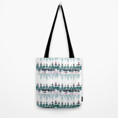 Family Christmas Trees in Snowy Winter ~ Christllax's Line Tote Bag by weivy Family Christmas, Xmas, Makeup Pouch, My Themes, Mode Inspiration, Poplin Fabric, School Bags, Hand Sewn, Original Artwork
