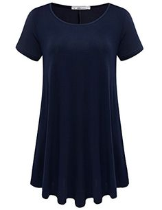 Special Offer: $11.99 amazon.com JollieLovin – stay jollie & lovely || Your fashion is our passion. – [JL Team] JollieLovin Women's Short Sleeve Loose Fit Flare Hem T Shirt Tunic Top is made with solid & breathable fabric that delivers high loose-fit comfort. It...