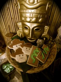 Cookies at a Lego Indiana Jones Party #lego #indianajones