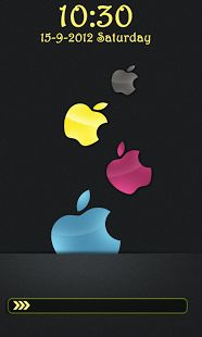 Apple Go Locker This app puts your favorite apple logo on your smartphone screen.Apple Go Locker is an image of 3D apple with multi colore effect.Now, it is not necessary to have an Iphone, enjoy its app, we applovers have brought you replica of an Iphone lock Screen for FREE. Keywords: Apple go locker, Android apple, android locker theme, apple lock screen, apple locker theme, free android app, go locker theme